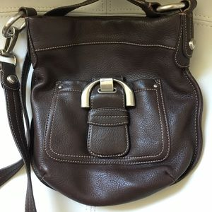Chocolate Brown Leather Cross Body
